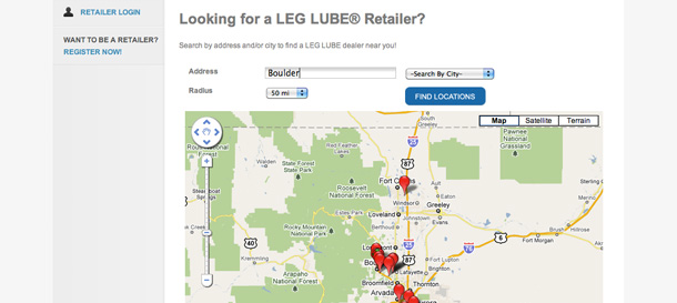 boulder-web-design-ecommerce-leglube-md-map